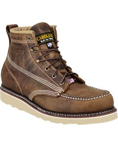 "Carolina CA7811 6"" Steel Toe Moc Toe Wedge Work Boot"