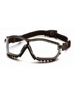 Pyramex V2G Clear H2X Anti-Fog Lens with Black Strap/Temples