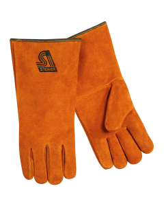 Steiner Premium Side Split Cowhide Stick Welding Gloves - Cotton Lined