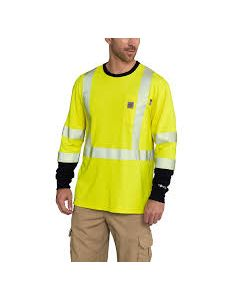 Carhartt Men's FLAME-RESISTANT HIGH-VIS FORCE LONG-SLEEVE T-SHIRT CLASS 3