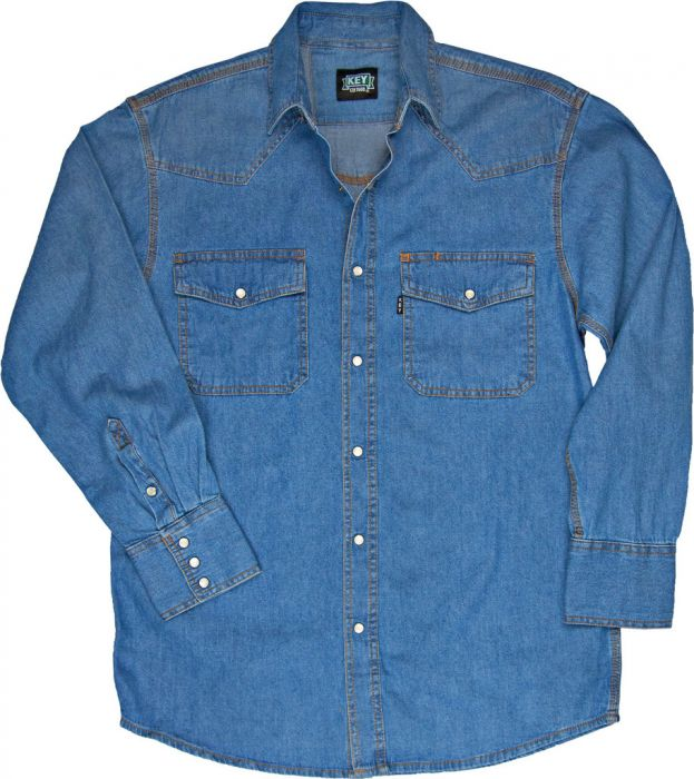 8004462e52 Key Premium Washed Denim Shirt