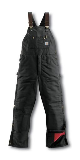 161fd9c282 Carhartt Duck Zip-To-Thigh bib Overall/Quilt Lined. Skip to the end of the  images gallery. Black